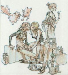 © JungGi Kim / Hyunjin Kim / Superani – à Séoul. Junggi Kim, Comic Kunst, Kim Jung, Anime Sketch, Comic Artist, Erotic Art, Figure Drawing, Asian Art, Art Sketches