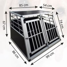 #Extra large dog crate metal transport travel #puppy pet transit box #portable li, View more on the LINK: http://www.zeppy.io/product/gb/2/111950877029/