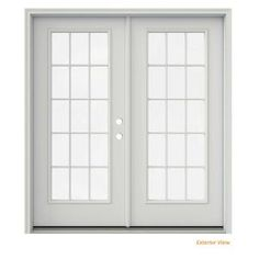 JELD-WEN Primed Prehung Left-Hand Inswing French Patio Door with Brickmould provides maximum ventilation for your home. Easy to maintain. French Closet Doors, Mirror Closet Doors, French Doors Patio, Patio Doors, French Patio, White Interior Doors, Mdf Doors, Entry Doors, Interior Led Lights