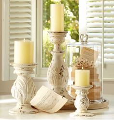Candle holders. Use posts, lamps, banisters.
