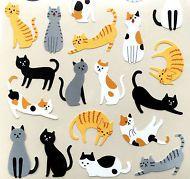 Cat Stickers - Japanese Chiyogami Stickers -Neko Stickers  S271
