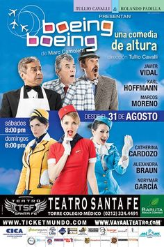 "Obra de Teatro ""Boeing Boeing"" Venezuela"