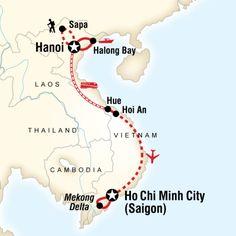 Explore vibrant streets of Hanoi, trek through hilltribe villages of Sapa, cruise magical Halong Bay, shop in quaint Hoi An, experience a Mekong Delta homestay