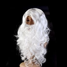 #Deluxe white santa fancy dress #costume #wizard wig and beard christmas xmas par,  View more on the LINK: 	http://www.zeppy.io/product/gb/2/252608815672/