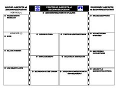 This activity is designed to an illustrated foldable about Reconstruction.  On…