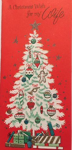 A personal favorite from my Etsy shop https://www.etsy.com/listing/484828601/vintage-christmas-card-decorated
