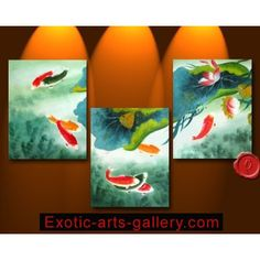 Chinese Feng Shui Painting Koi Painting Chinese Fish Painting 73-1