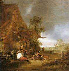 Isaac van Ostade - Reizigers bij een herberg (1639)