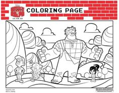 Wreck-It Ralph Coloring Sheets for the kids