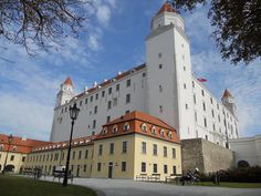 Bratislava castle - It's WHITE now? (It was brown when I lived there! White Now, European Countries, Bratislava, Footprints, Prague, Old Town, Night Life, Castle, Brown