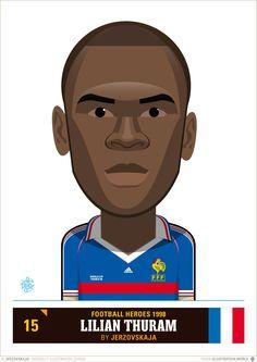 Héros du Foot 1998 - Football Heroes 1998 - Fussballhelden 1998 - France - Frankreich - Lilian Thuram