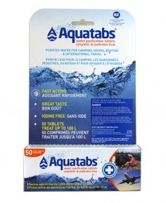 aquatabs® are used to treat over 10 billion gallons of water every year. aquatabs® effervescent tablets are effective against giardia cysts, bacteria and viruses. aquatabs® can be used in emergency and disaster situations. aquatabs® are used by the world Water Purification Tablets, Purifier, Canadian Tire, Packing List For Travel, Water Treatment, Drinking Water, Better Life, Health And Wellness, Aqua