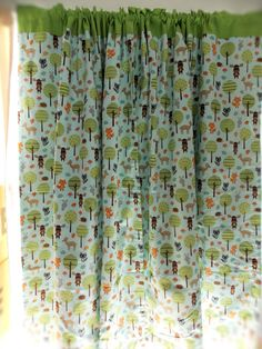 Originally $160.00. For a limited time take $30.00 off. These curtains are a woodland critter theme perfect for your childs bedroom. Each panel