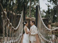 Azul en contraste: La boda perfecta de Gioco y Edu en el paraíso