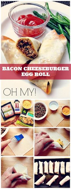 BACON CHEESEBURGER EGG ROLLS...OH MY! from Cul-de-sac Cool! These are not only kid-friendly, but adults think they are pretty swanky too. Serve them with ketchup and mustard condiments or make a batch using blue cheese instead of cheddar. Slice them and use for appetizers. Make them for slumber parties or a quick, fun weekday meal. Your family will love them. I promise.