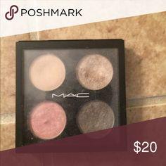 🎄MAC Quad Eyeshadow 🎄 MAC 4 PACK EYESHADOW; USED; GREAT SHADES MAC Cosmetics Makeup Eyeshadow