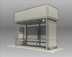 Bus Stop Shelter Lipton Brand Model Bus Stop Design, Bus Shelters, Lipton, 3d, Model, Scale Model, Models, Template