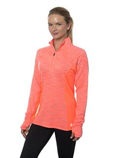 RBX Active Women's Striated Fleece Back Zip Pullover Coral Blush L ** Find out more at the image link. Coral Blush, Training Tops, Cute Woman, Sweaters For Women, Women's Sweaters, Leather Jacket, Fashion Outfits, Women's Fashion, Pullover