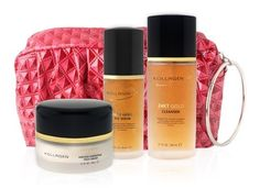 Limited Edition Kollagenx 24kt Gold Deluxe Gift Set by KollagenX. Save 7 Off!. $210.00. Luxury Chic Travel Bag. 24KT Gold Flake Serum, 1.2 fl oz.. 24KT Gold Ageless Hydrating Face Cream, 1.1 fl oz.. 24KT Gold Cleanser, 2.7 fl oz.. KollagenX 24k Gold deluxe skincare system for a complete skincare routine. Includes: 24KT Gold Ageless Hydrating Face Cream, 1.1 fl oz.; 24KT Gold Cleanser, 2.7 fl oz. and 24KT Gold Flake Serum, 1.2 fl oz.. What it is formulated to do:?A revolution in skin ...