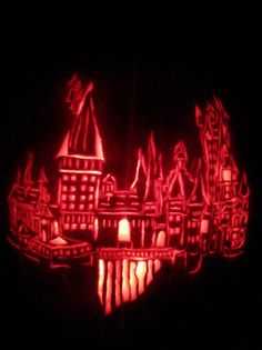 Hogwarts Castle was just entered into the Annual Pumpkin Carving Contest. Why not submit your carved pumpkin today? #pumpkincarving #halloween