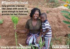 #5poundscould help provide a mother like Janet with seeds to feed and provide for her children. #BelowtheLine
