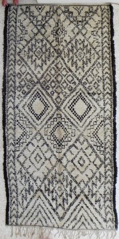 natural virgin wool carpet BENI OUARAIN berber rug from Morocco via Etsy