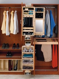 """Rev-A-Shelf CAL-081642-1   Rev-A-Shelf introduces its womens pivoting Closet Armoire. Designed for use alone or in conjunction with the Storage Armoire, this product fits into an 8"""" opening between two 16"""" depth closet panels, simply add a panel front and you have the must have in closet organization. Its innovative pivoting action allows you to access either the 30"""" mirror or the various storage compartments with a flick of the wrist. Mounted on heavy-duty slides, it pivots, stopping at ..."""