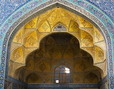 The use of colour is very significant in the mosques and buildings in Isfahan.
