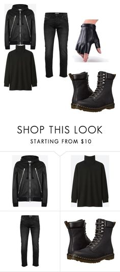 """""""New Ticci Toby Outfit"""" by mitsuki-snake-ninja on Polyvore featuring Maison Margiela, Uniqlo, Only & Sons, Dr. Martens, men's fashion, menswear and creepypasta"""
