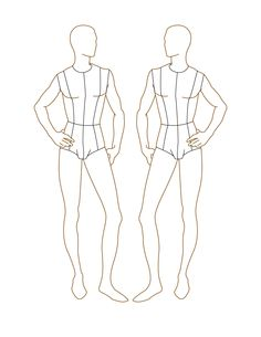 textiles body templates - croqui fashion model templates male fashion figure