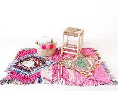 Vintage Moroccan Boucherouite Rug The Nova Rag Rug by LoomAndField