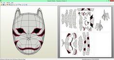 Kakashi Anbu Mask Papercraft [DOWNLOAD] by SIBOR270898.deviantart.com on @DeviantArt
