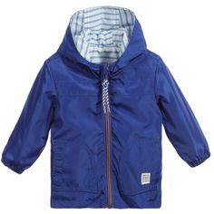 Carrément Beau Baby Boys Blue Reversible Lightweight Jacket (220 BRL) ❤ liked on Polyvore featuring baby boy