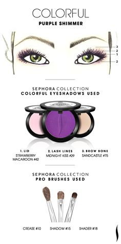 COLORFUL: Purple Shimmer HOW TO. #sephoracollection #sephora #eyeshadow