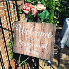 A beautiful compliment to your rustic inspired engagement party.