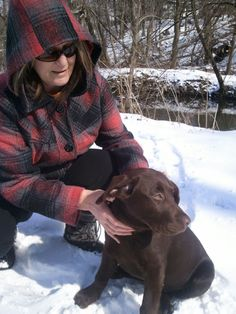 Reminton and me playing in the park, loving the snow!