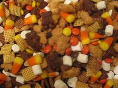 Southern Jewel's Recipes Remedies and DIY: How To Make a Fun Fall Snack Mix - Great Recipe for Children