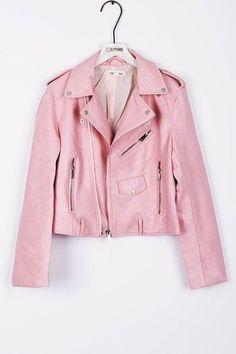 Daphne Blake, Pu Jacket, Leather Jacket, Visual Kei, Perfecto Rose, Pink Fashion, Fashion Outfits, Fashion Mode, Fashion Clothes