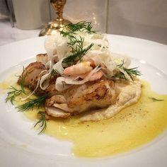 Smörstekt torsk med rostad blomkålspuré