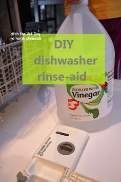 All Natural DIY Dishwasher Rinse-Aid. Ditch the Jet Dry! Just one ingredient you probably already have.
