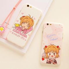 Cardcaptor Sakura Phone Case for iphone ●Material:the back of case:hard. ●Note:One case comes with one hang rope. time: business days t Book Phone Case, Diy Phone Case, Cute Phone Cases, Iphone 6, Iphone 8 Cases, Kawaii Accessories, Phone Accessories, Kawaii Phone Case, Cheap Iphones