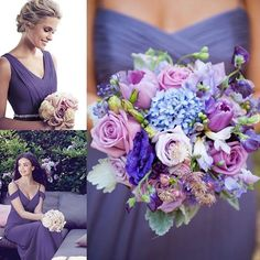 Three ways to work the beautiful new @pantone colour of the year #ultraviolet #purple #violet #lilac #bridesmaids #dessybridesmaids #maidofhonor #maids #bridetribe