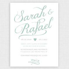 Chuva de Papel - Convites de Casamento