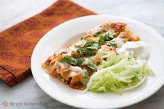 Enchiladas Recipe on SimplyRecipes.com