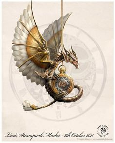 steampunk dragon by anne stokes - Fantasy Art by Anne Stokes Moda Steampunk, Steampunk Kunst, Style Steampunk, Steampunk Fashion, Steampunk Artwork, Steampunk Wings, Steampunk Drawing, Steampunk Design, Victorian Steampunk