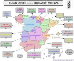 En esta página váis a encontrar una importante recopilación de blogs educativos de música. Están ordenados por Comunidades Autónomas y la relación incluye webs de Departamentos de Música.