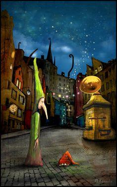 'Edinburgh' ; mixed media ; Matylda Konecka