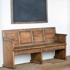 Stunningly beautifuland refined, The Gael Chapel Bench will not disappoint. Made from recycled antique pine for an authentic look and feel.