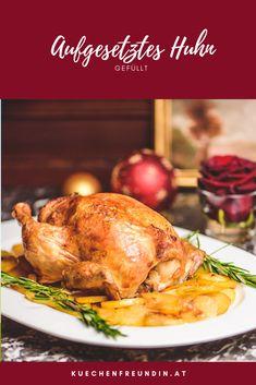 Ein wunderbares, einfaches Rezept für ein raffiniertes Huhn, dass mit geschmackvollen Kartoffeln und einer feinen Füllung direkt aus dem Backrohr kommt. Ideal für Weihnachten. Hallo Winter, Snacks, Foodblogger, Post, Turkey, Cooking, Picnic Foods, Appetizers, Turkey Country