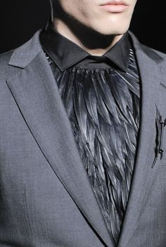 style.com #diy #feathers